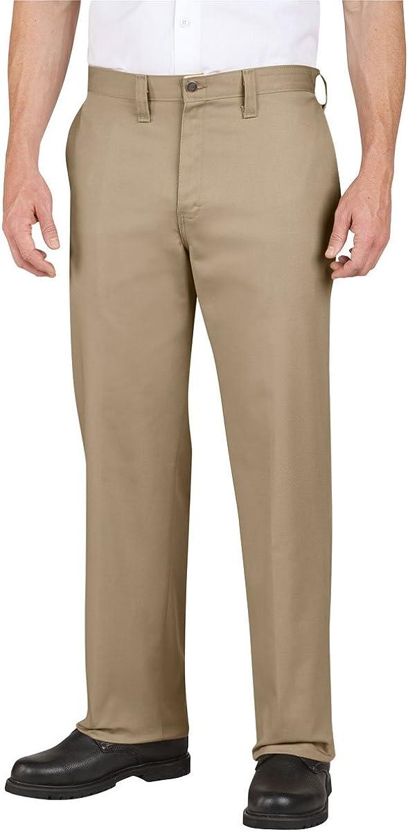 LP310 Premium Industrial Cotton Flat Front Pant-Khaki-36x30
