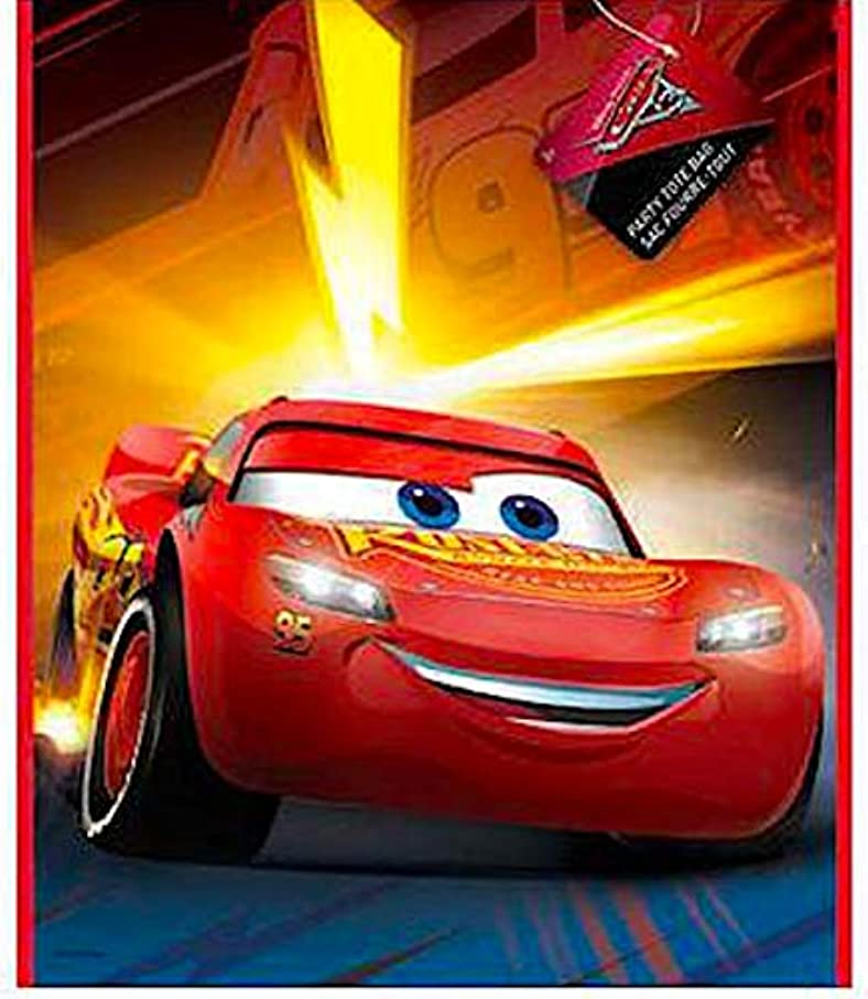 Unique Industries Officially Licensed Party Favor Gift Wrap Bags (Disney Pixar Cars)