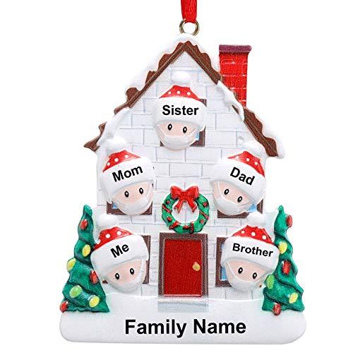 Personalized Family Christmas Ornament 2020 Survivor Family Customized Christmas Hanging Decorating DIY Xmas Gift (famliy of 5)
