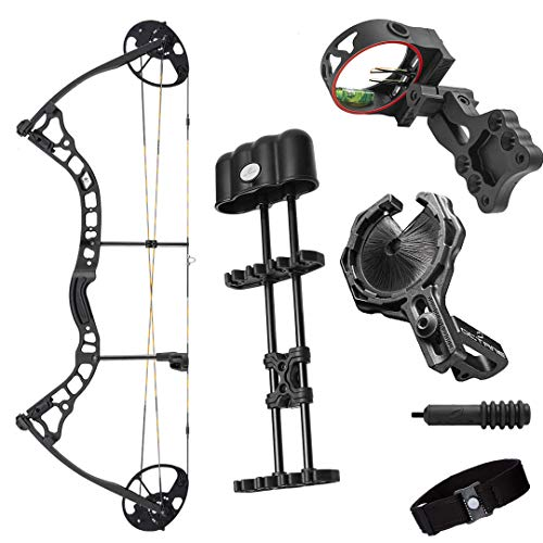 Archery 2021 Diamond Infinite 305 | Black | RH 7-70 LBS | Compound Bow Package | Draw Length 19-31' | Fully Adjustable