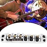 Pièce de guitare électrique ferme, pont de guitare électrique Anti-oxydation, pour ukulélé à usage général débutant(Chrome)