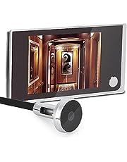 Digitaal kijkgaatje, kijkgaatje camera, kijkgaatje kijker 3,5-inch LCD-scherm + 120 ° kijkhoek + 24 uur bewaking, elektronische cat eye camera voor interne beveiliging