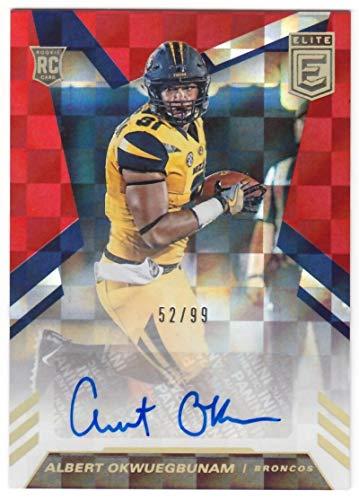 Albert Okwuegbunam 2020 Donruss Elite Rookie Autograph Red #21 NM-MT Auto #52/99 Broncos Football NFL