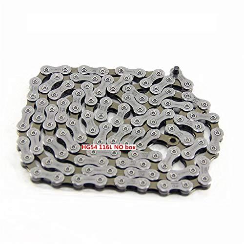 TSAUTOP Newest DEO-RE M6000 M610 HG54 Cadena de Bicicleta de montaña de 10 velocidades CN-HG54 MTB Cadenas de Carreteras para Shi-ma-No (Color : HG54 116L NO Box)