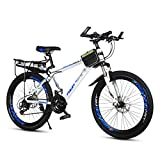 Men 24 Inch Wheel Mountain Bike,Sport Bike Road Bikes,With Double Disc Brake