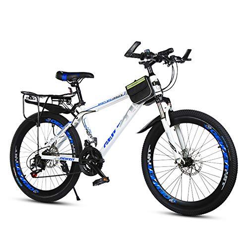 Hombres Rueda De 24 Pulgadas Bicicleta De Montaña,Sport Bike Bicicletas De Carretera,con Freno De Disco Doble & Shimano Cambio De Pulgar,Velocidad Variable Bicicletas De Suspensión Completa-B 24inch