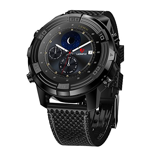 LEMFO LEM6-3G Smartwatch Telefon (mit austauschbarem Bügel), IP67 wasserdichter GPS-Verfolger-Viererkabel-Kern 1.0GHz 1GB + 16GB Anti-verloren