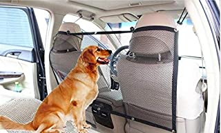 Tysons Pet Treats Car Pet Barrier Universal Mesh Fit Divider Durable Anti Bite Prevent Distraction Screen from Children Dog Driving Safety Vehicle Backseat Black Barrier Net Open Field of Vision