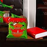 クリスマスギフトバッグクリニーククリスマスサンタサックス巾着袋は、ホリデーパーティーの装飾を持つバッグを扱います,B