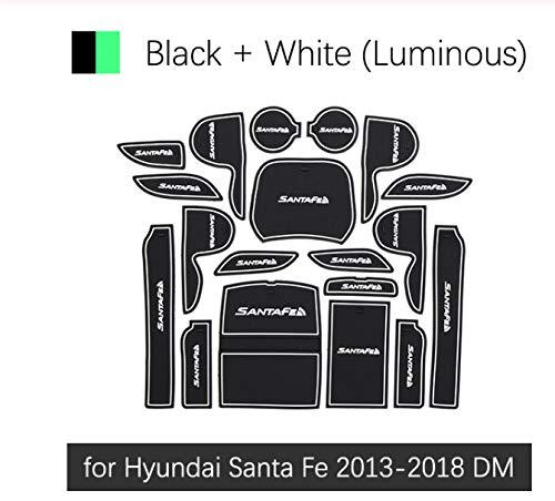 linfei rutschfeste Gummi Tor Slot Cup Matte Für Hyundai Santafe Santa Fe 2013-2018 Dm Zubehör Aufkleber