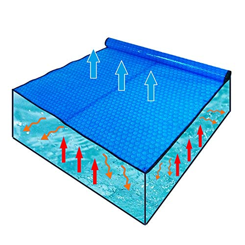 QIANDA Solarplane, Solarfolie Poolheizung, 400um Dick Solar- Vereiteln Schwimmbad Heizung Plane Mit Allseitiger Verstärkung (Size : 549 x 274cm)