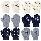 TUPARKA 12 Gants enfants Gants Tricotés chauds gants d'hiver mignonne petite fille mitaines d'hiver de bébé doux gants tricotés