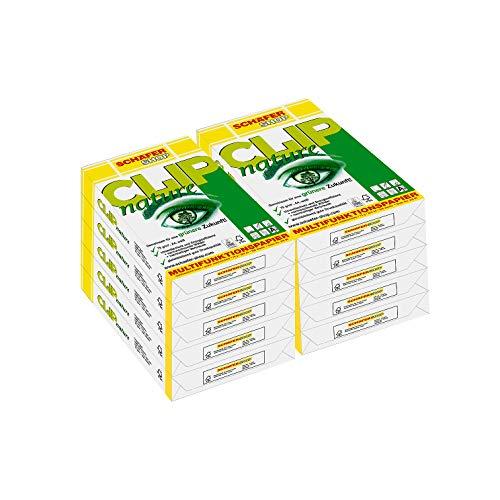 SCHÄFER SHOP Multifunktionspapier CLIP nature, 5000 Blatt, DIN A4, 75 g/qm, Druckerpapier, Kopierpapier, Universalpapier