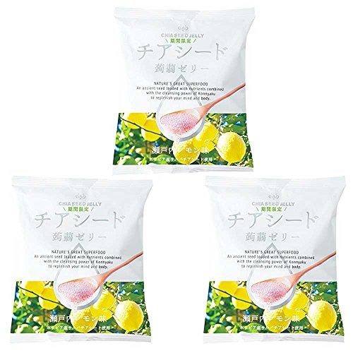 チアシード蒟蒻ゼリー 瀬戸内レモン味 1袋 10個入り×3袋