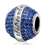 Abalorio de plata de ley 925 para pulsera Pandora (septiembr