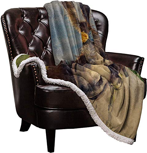 SuperSoftShaggySherpaWarmThrowBlankets Loyal and Honest Donkey Provide Fuzzy, Cozy Luxury Blanket Perfect Throw for Bed/Couch/Sofa (50'x60')