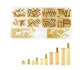 Litorange 240 Pieces M2.5 Male Female Hex Brass Spacer Standoff Screw Nut Threaded Pillar PCB Motherboard Assortment Kit