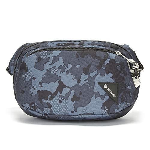 Pacsafe Vibe 100 - Anti-Diebstahl Hüfttasche, Diebstahlschutz Hipbag, Gürteltasche Tasche, Camouflage Grau/Grey Camouflage
