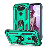 KAHEAUM Case for LG Risio 4/Phoenix 5/Aristo 5 Plus/K300/K30 2020/Tribute Monarch/LG Aristo 5 Case Kickstand Holder, LG K31 Case for Girls Boys,LG Fortune 3 Case Cricket Cover,LG K8X Phone Case Green