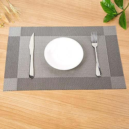 MRBJC Posavasos manteles individuales reutilizables para tazas, posavasos redondos para el hogar, restaurante, oficina y bar, 45 x 30 cm