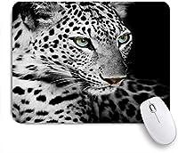VAMIX マウスパッド 個性的 おしゃれ 柔軟 かわいい ゴム製裏面 ゲーミングマウスパッド PC ノートパソコン オフィス用 デスクマット 滑り止め 耐久性が良い おもしろいパターン (黒と白のヒョウ)