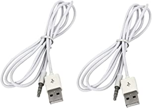 D DOLITY 2pcs Auxiliary Audio Connector 3.5mm AUX Male to USB2.0 Male Converter Cable