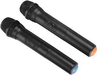 Diyeeni Micrófono inalámbrico, Micrófono VHF con Receptor Alcance de 30-100 m, Micrófono de Mano Karaoke Potente Calidad d...