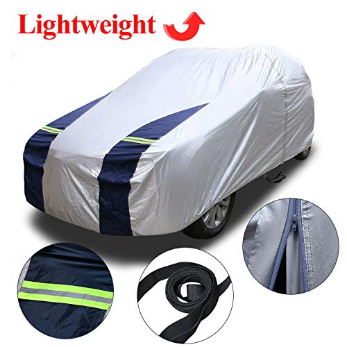 KAKIT SUV Cover Snowproof Waterproof All Weather, Polyester Sun UV Protection Windproof...