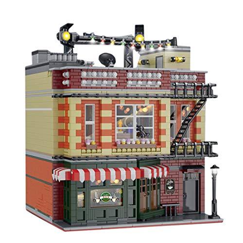 PEXL Haus Bausteine Bausatz, Modular Architektur Modell für Friends Central Perk Big Bang Theory Modular, 4600 Klemmbausteine Kompatibel mit Lego