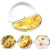 MAOJIE Tortilla Microondas Tortilla Bandeja para Hacer Huevos Huevo Cocina Huevo furtivo Molde Herramientas de Cocina