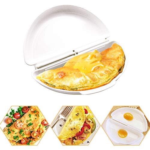 Kylewo Omelette-Maker aus Silikon, Rührei Maker Eierkocher Spiegelei pochierte Eier Omelett für Mikrowelle