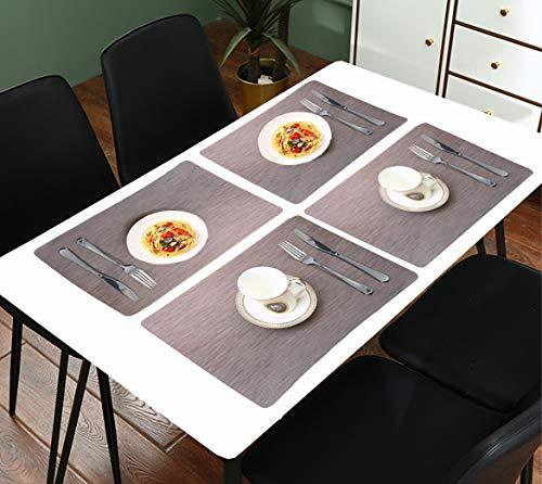 ランチョンマット 北欧 防水 プレースマット 4枚セット おしゃれ 汚れ防止 手入れ簡単 食卓 華やか 雰囲気 PVC製 家庭 レストラン用 45×30cm (ダックコーヒー-1)