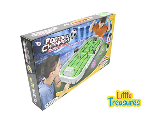 Little Treasures Hockey Champion Ship with Digital Score Board an Educational Game for Table ice Hockey Game with HandControls Realistic Court Design and Music
