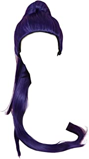DAZCOS 100cm Bluepurple Widowmaker Cosplay Wig with Ponytail (Violet)