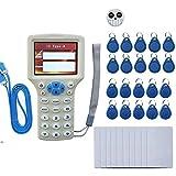 RFID NFC Card Copier Reader Writer Duplicator for IC ID Cards, Rewritable RFID Keyfobs, Copy M1 13.56MHZ Encrypted Programmer USB NFC UID Tag Key Card