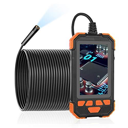 Ancocs Industrie Endoskopkamera-Inspektionskamera mit 4,3-Zoll-LCD-Bildschirm, wasserdichte HD 1200P-Teleskopkamera, IP67-Schlangenkamera mit 6 LED-Leuchten, 5 m halbstarres Kabel (16.5 FT)
