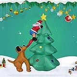 HHORD Pie Inflable Papá Noel Que Sube En El Árbol De...
