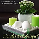 MGS SHOP Dekokies Dekosteine Streudeko Kies – Farbe wählbar (5 kg, Schneeweiß 15-25) - 6
