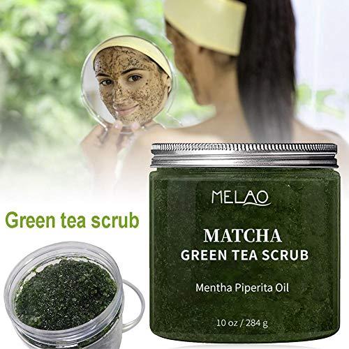 Matcha Grüner Tee Körperpeeling-Creme Body & Face Scrub Hautglättung Anti-Cellulite-Peeling Tiefenreinigung Brightening Moisturizing Verjüngung Hautpflege