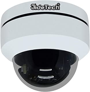 HD 1080P PTZ Outdoor POE Security IP Dome Camera with 4X Optical Zoom Pan/Tilt/4X Motorized Zoom, Dome Style for Ceiling Installation