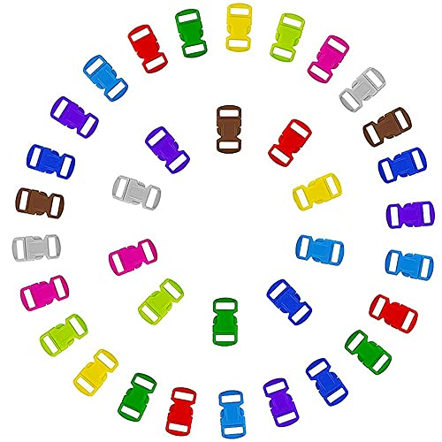 LLMZ Fibbia per Zaino Mini Fibbie di Rilascio di Plastica Clip 100 PCS Tri-Glide Cursore della Tessitura Mini Fibbie Regolabili Laterali per bracciali Paracord, Collare per Cani,Accessori per Zaini