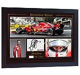S&E DESING Sebastian Vettel Ferrari SIGNED Autograph Foto