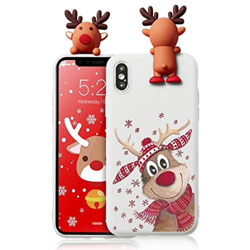 Yoedge Funda para Xiaomi Redmi Note 6 Pro, Silicona Cárcasa 3D Doll Toy Muñeca Navidad con Dibujos Antigolpes de...