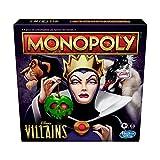 Hasbro Monopoly: Disney Villains Edition, gioco per bambini dagli 8 anni in su, gioca come un classico cattivo Disney