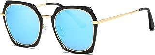 SGJFZD TrendyOutdoor Seaside Sunscreen UV400 Polarized Sunglasses Ladies' Polarized Sunglasses Vintage Retro Sporting Large Frame Elegant Sunglasses Fishing (Color : Blue)