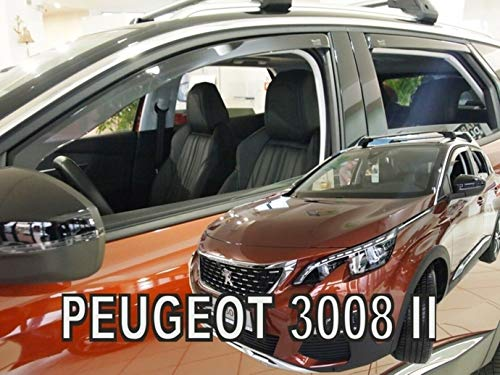 J&J AUTOMOTIVE J&J - Deflectores de Viento para Peugeot II 3008 2017, 4 Piezas