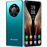 FJYDM Teléfono Inteligente, Teléfonos Celulares Desbloqueados 6.5 Pulgadas Teléfono Dual Sim 128GB Teléfonos con Desbloqueo De Huellas Digitales Y Identificación Facial,Verde