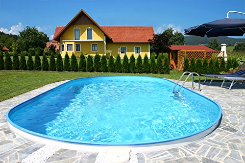 Summer Fun Ovalpool Einbau Komplettset 120 cm Tiefe (SW:0,6 IH:0,6) 600 x 320 x 120 cm
