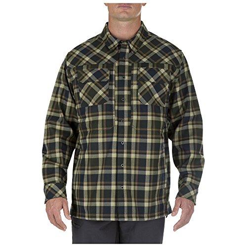 5.11 Men's Firecracker Flannel Jacket, Swamp, Small