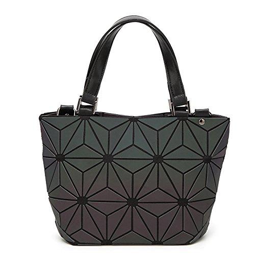 CZDXMRucksack Messenger Bag Geometrie Rhombentasche Eimer Tasche Handtasche Umhängetasche Mode Handtasche Cooler Rucksack mit Rucksack Damen Rucksack Mode Multifunktionsrucksack Leuchtmittel Muster